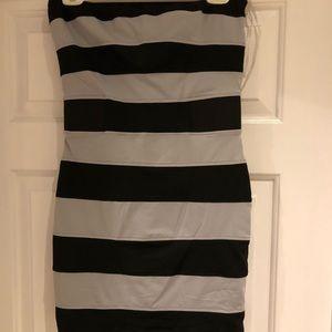 Striped bodycon dress.